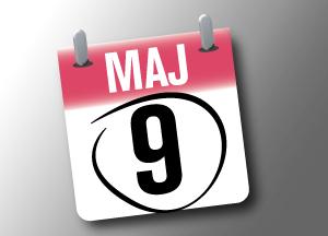 Bild på kalender 9 maj
