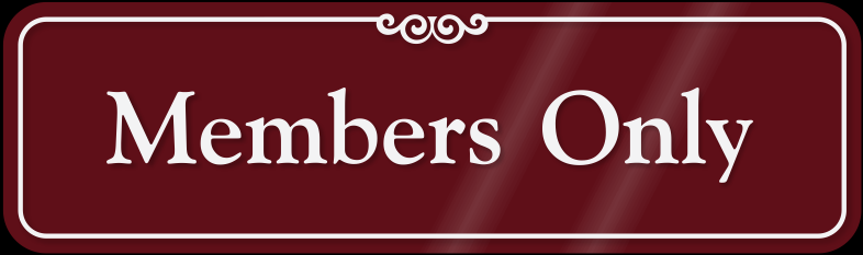 members-only-sign