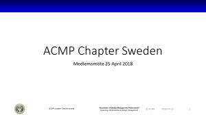 ACMP Medlemsmöte 180425